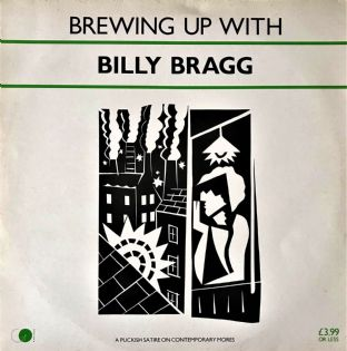 Billy Bragg - Brewing Up With Billy Bragg  (LP) (VG/VG-)